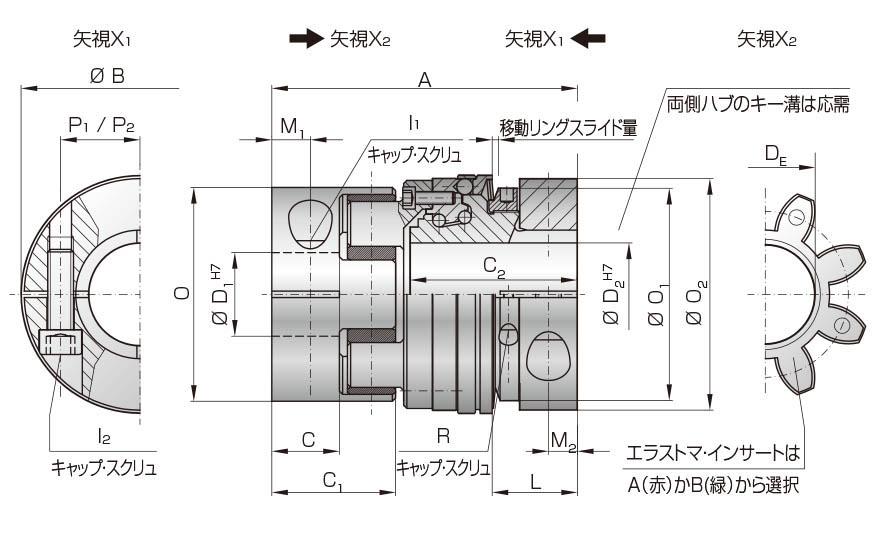 MSLE図面 マイティの安全クラッチトルクリミッタ