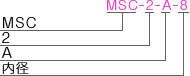 MSC-2-Aタイプ型式表記