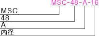 MSC-48-Aタイプ型式表記