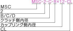 MSC-2-BCD-CLタイプ型式表記
