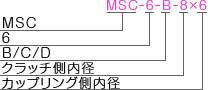 MSC-6-BCDタイプ型式表記