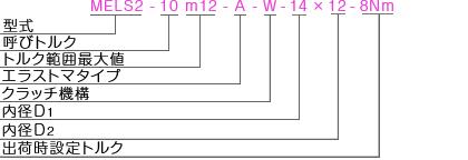 MELSL2 型式表記 マイティの安全クラッチトルクリミッタ