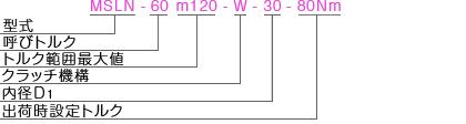 MSLN型式表記 マイティの安全クラッチトルクリミッタ